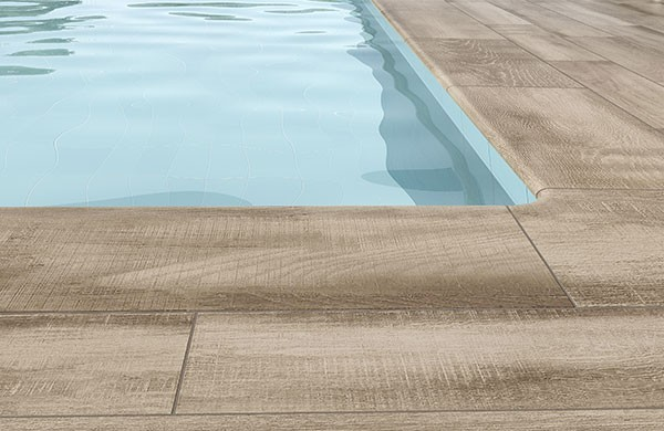 Natura, the perfect wood effect extruded tile for terraces